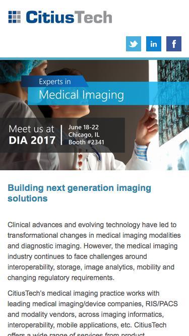 DIA 2017 - Medical Imaging