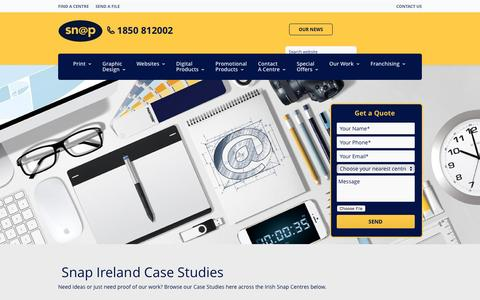Screenshot of Case Studies Page snap.ie - Snap Ireland Case Studies | Our Work - captured Nov. 30, 2016