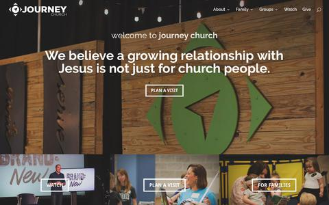 Screenshot of Home Page journeycalloway.com - Home | Journey Church - captured Oct. 22, 2017