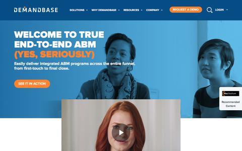 Account-Based Marketing – Demandbase | Solutions