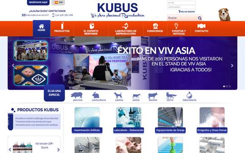Screenshot of Home Page kubus-sa.com - Kubus, S.A. - Kubus S.A. - captured Jan. 29, 2016