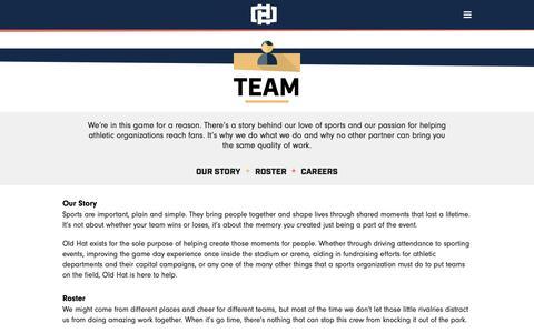 Screenshot of Team Page oldhatcreative.com - Team - Old Hat - captured Oct. 19, 2018