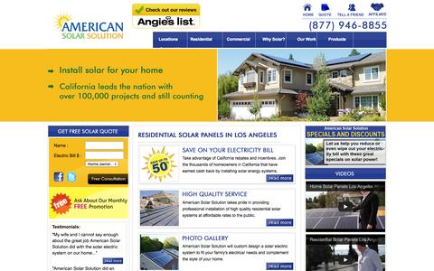Screenshot of Locations Page americansolarsolution.com - Home Solar Panels Irvine Residential Solar System Anaheim - captured Sept. 30, 2014