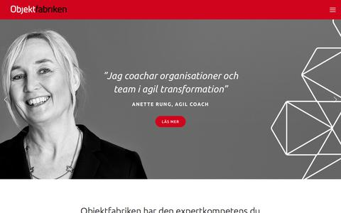 Screenshot of Home Page objektfabriken.se - Objektfabriken - captured Sept. 21, 2018