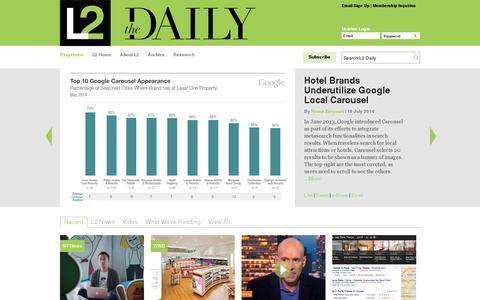 Screenshot of Blog l2thinktank.com - The Daily   L2: Business Intelligence for Digital - captured July 19, 2014