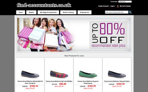 Screenshot of Home Page find-accountants.co.uk - Cheap Men Bags & Accessories and Women Clothing, Women's Shoes Online and more on sale! - captured June 5, 2017