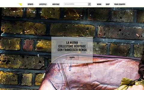 Screenshot of Home Page diadora.com - Diadora Sito Ufficiale   www.diadora.com - captured Sept. 23, 2014