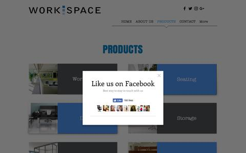 Screenshot of Products Page workspaceok.com - Workspace Resource, Inc. - Our Products - captured Dec. 3, 2016