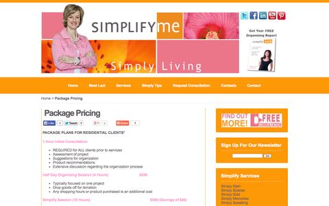 Screenshot of Pricing Page simplifyme.com - Package Pricing  | - captured Oct. 4, 2014