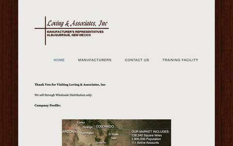 Screenshot of Home Page loving-assoc.com - Loving & Associates, Inc - captured Sept. 30, 2018