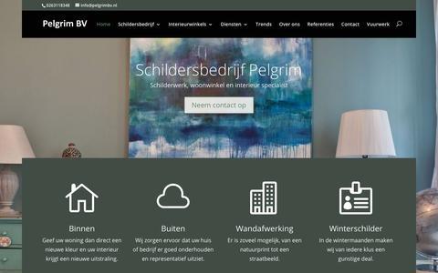 Screenshot of Home Page pelgrimbv.nl - Home - Schildersbedrijf Pelgrim - captured Oct. 25, 2018