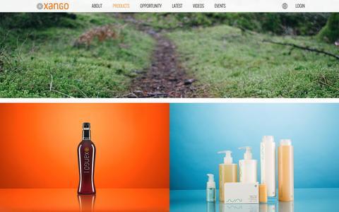 Screenshot of Products Page xango.co.uk - | XANGO United Kingdom - captured April 17, 2016