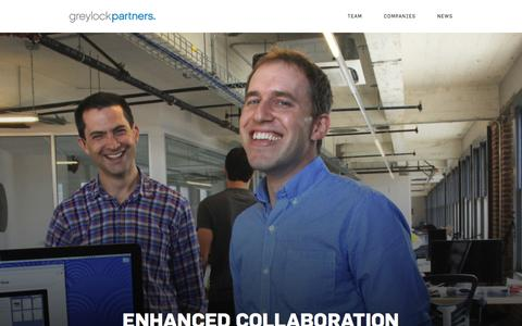 Screenshot of Home Page greylock.com - Greylock Partners A Leading Silicon Valley Venture Capital Firm - captured May 18, 2016