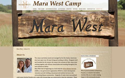 Screenshot of About Page marawest.com - About Us|Masai Mara Lodges|Luxury Camp|Safari Lodge - captured Oct. 27, 2014