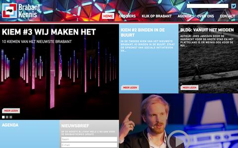 Screenshot of Home Page brabantkennis.nl - Home - Brabant KennisBrabant Kennis | Kennis over Brabant - captured Jan. 30, 2015