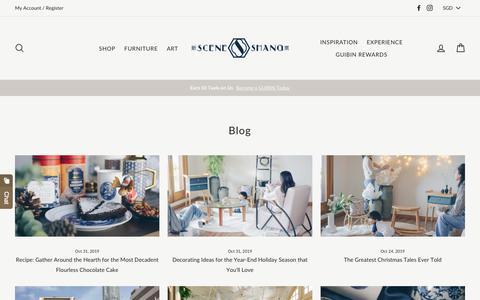 Screenshot of Blog sceneshang.com - SCENE SHANG Blog - Culture, heritage, home styling tips, recipes, lifestyle & more.. - captured Nov. 4, 2019