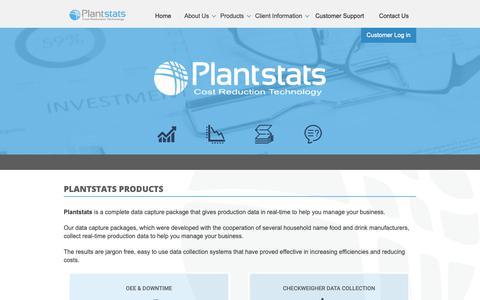 Screenshot of Products Page plantstats.co.uk - Plantstats  a complete DATA Capture Package - captured Sept. 28, 2018