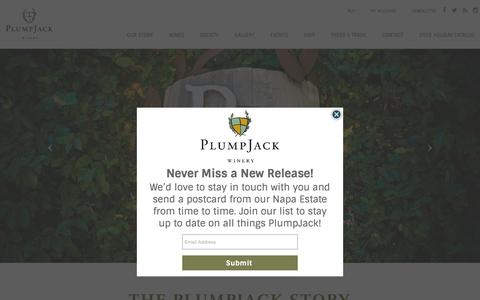 Screenshot of Home Page plumpjackwinery.com - PlumpJack Winery | Napa Valley Winery | Vineyard In Napa - captured Nov. 13, 2018