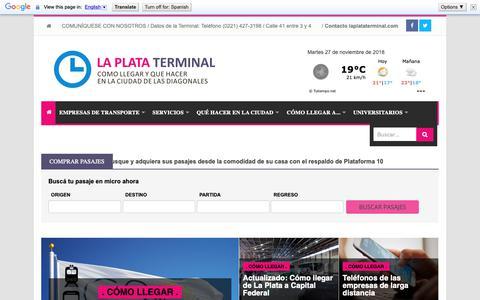 Screenshot of Home Page laplataterminal.com - La Plata Terminal - captured Nov. 28, 2018