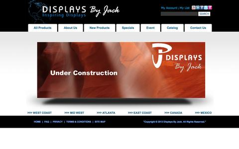 Screenshot of Privacy Page FAQ Page displaysbyjack.com - Displays By Jack Store Fixtures - captured Oct. 23, 2014