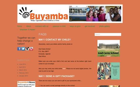 Screenshot of FAQ Page wordpress.com - FAQS | Buyamba Uganda - captured Sept. 12, 2014