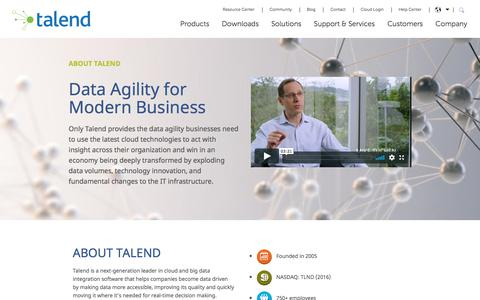What Is Talend: Talend Cloud-Ready Software & About Talend