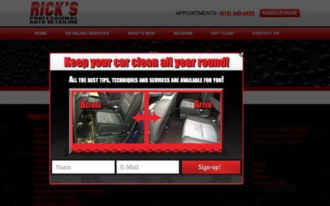 Screenshot of Site Map Page ricksautodetailing.com - Sitemap - Rick's Auto Detailing - captured Nov. 7, 2018