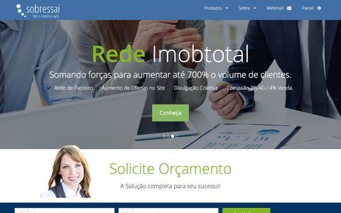 Screenshot of Home Page sobressai.com.br - Construir site para Imobiliária - captured March 3, 2016