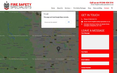 Screenshot of Contact Page fire-safety-specialists.co.uk - Fire Safety Specialists   Contact Us - captured Nov. 14, 2018