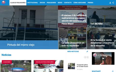 Screenshot of Home Page club-pescadores.com.ar - Club de Pescadores - captured Oct. 28, 2018