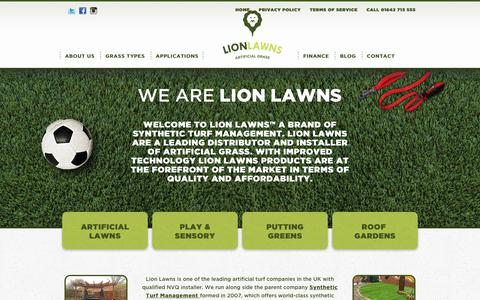 Screenshot of Home Page lionlawns.co.uk - Lion Lawns: Fake Lawns, Synthetic Turf, Artificial Grass for Homes - captured July 5, 2017