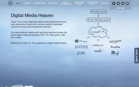 Screenshot of About Page cloud19.com - About - Cloud 19 Media - captured Aug. 6, 2017
