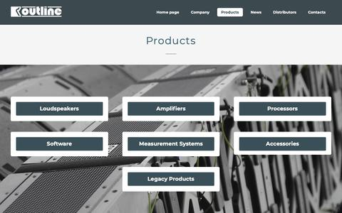 Screenshot of Products Page outline.it - Products | Outline - captured Oct. 19, 2018