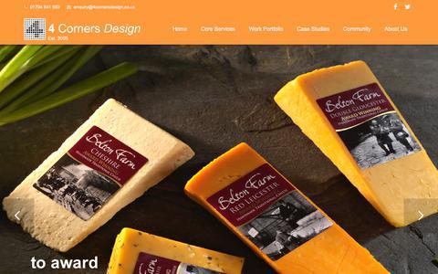 Screenshot of Home Page 4cornersdesign.co.uk - 4 Corners Design Ltd, Lancashire – Tel: 01704 841 593 - captured Oct. 25, 2017