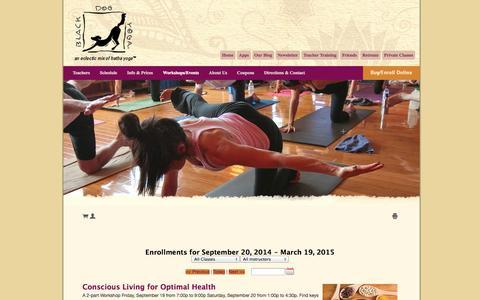 Screenshot of Signup Page blackdogyoga.net - Workshops/Events  «  Black Dog Yoga – Sherman Oaks - captured Sept. 22, 2014