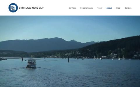 Screenshot of About Page btmlawyers.com - About - BTM Lawyers LLP - captured Feb. 7, 2016