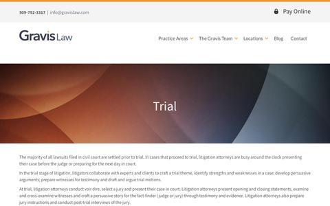 Screenshot of Trial Page gravislaw.com - Trial   Gravis Law, PLLC - captured Sept. 17, 2017