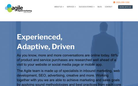 Screenshot of About Page agiledigitalmktg.com - About Agile Digital Marketing - captured July 7, 2019