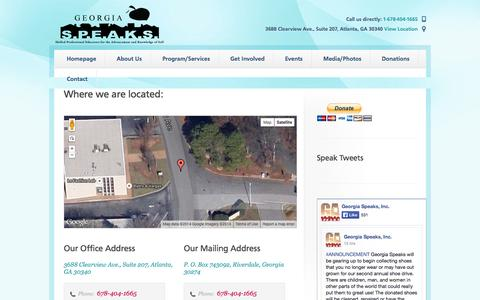 Screenshot of Locations Page gaspeaks.org - Locations   Keeping families together... Making individuals stronger - captured Oct. 2, 2014