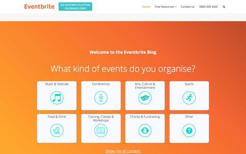 Screenshot of Blog eventbrite.co.uk - Home - Eventbrite UK Blog - captured June 20, 2017