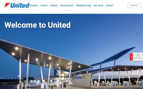 Screenshot of Home Page unitedpetroleum.com.au - United Petroleum – 100% Australian Owned - captured Nov. 12, 2017