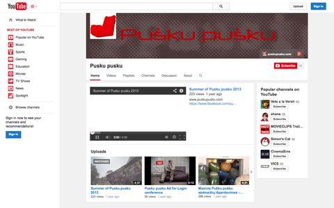 Screenshot of YouTube Page youtube.com - Pusku pusku  - YouTube - captured Oct. 23, 2014