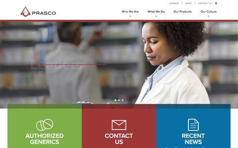 Screenshot of Site Map Page prasco.com - Prasco :. Home - captured May 10, 2017