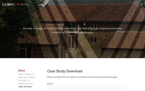 Screenshot of Case Studies Page vocality.com - Case Studies — Vocality - captured June 18, 2017