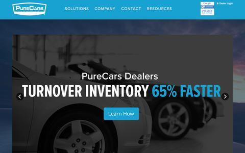 Screenshot of Home Page purecars.com - PureCars - PureCars - captured July 3, 2015
