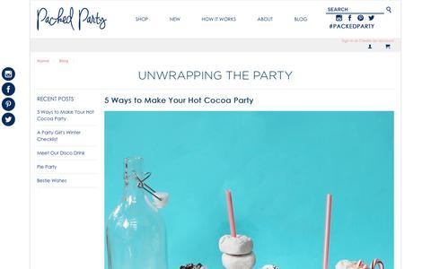 Screenshot of Blog packedparty.com - Blog - captured Dec. 17, 2015