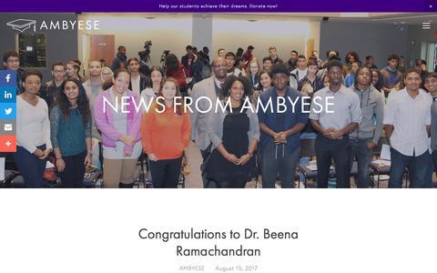 Screenshot of Press Page ambyese.org - News — Ambyese - captured Oct. 7, 2017