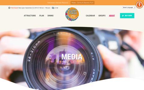 Screenshot of Press Page lunaparknyc.com - Media - Luna Park Coney Island - captured Sept. 22, 2018