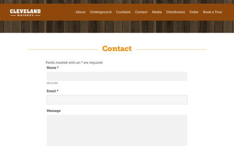 Screenshot of Contact Page clevelandwhiskey.com - Contact «  Cleveland Whiskey - - captured Sept. 28, 2018