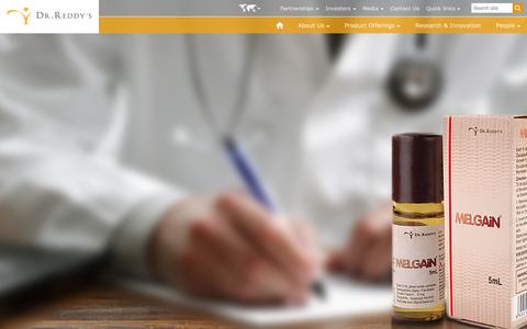 Screenshot of Home Page drreddys.com - Dr.Reddy's Laboratories Ltd. - captured Sept. 19, 2014
